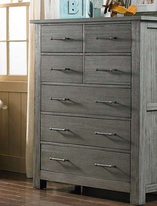 Lucca 7 Drawer Dresser Weathered Grey